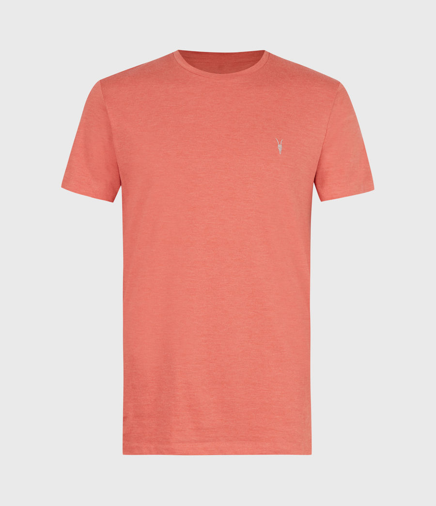 Herren Tonic Crew T-Shirt (saffron_red_marl) - Image 2