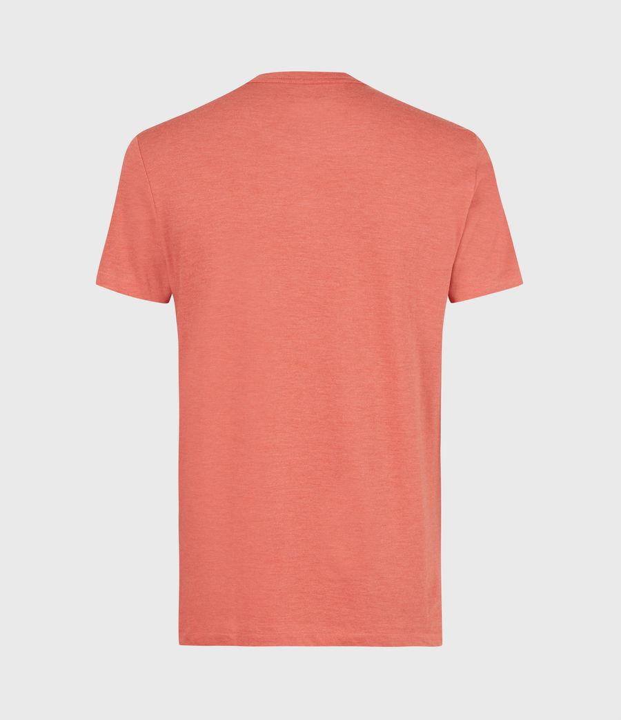 Herren Tonic Crew T-Shirt (saffron_red_marl) - Image 3