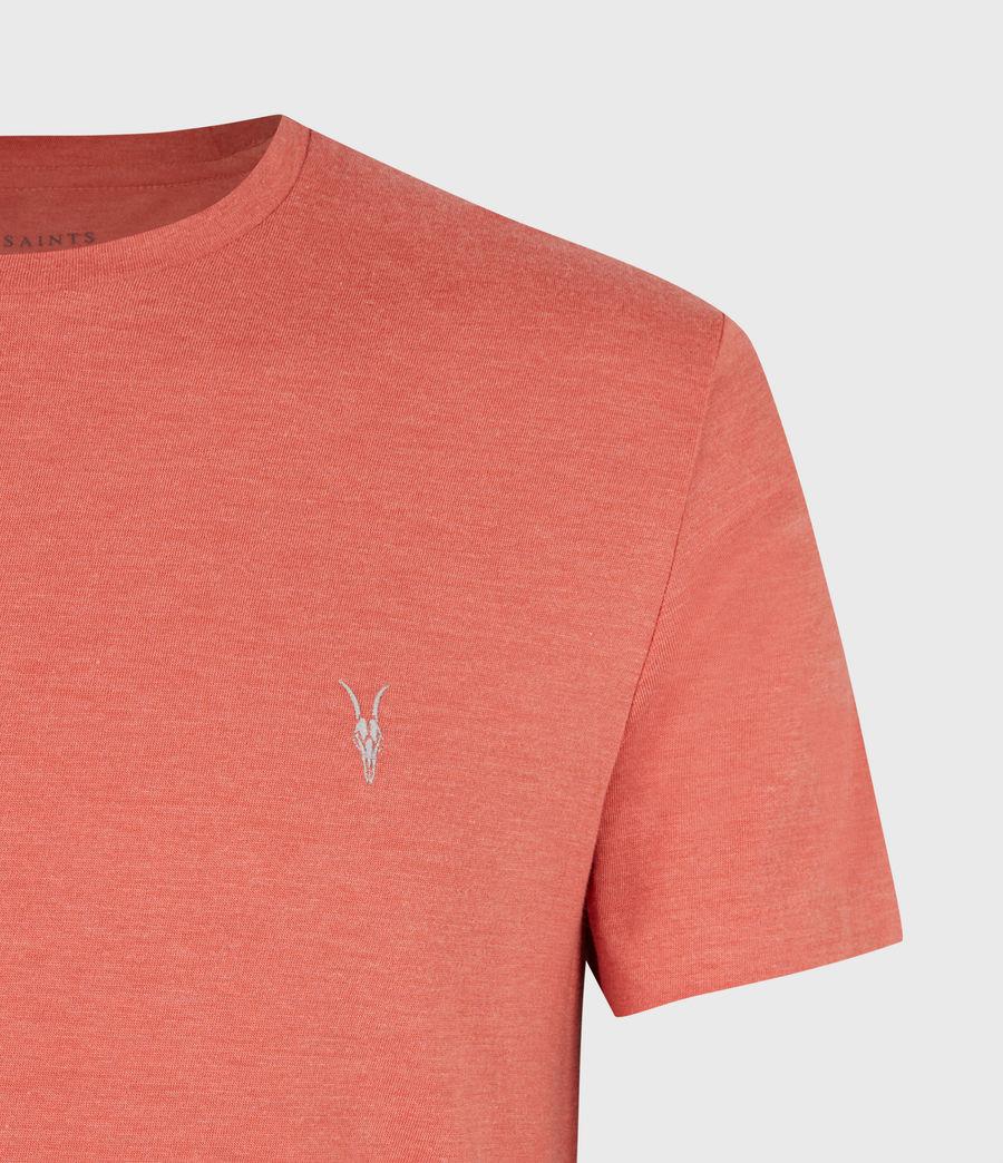 Herren Tonic Crew T-Shirt (saffron_red_marl) - Image 5