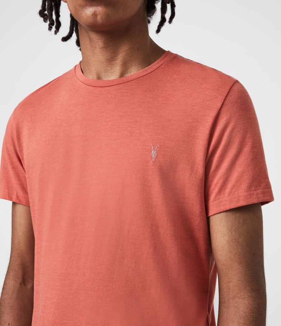 Herren Tonic Crew T-Shirt (saffron_red_marl) - Image 6