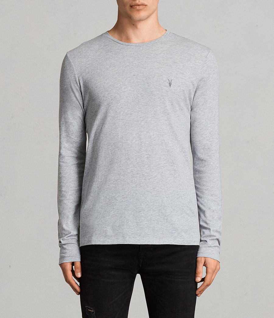 Mens Tonic Long Sleeve Crew T-shirt (grey_marl) - Image 1