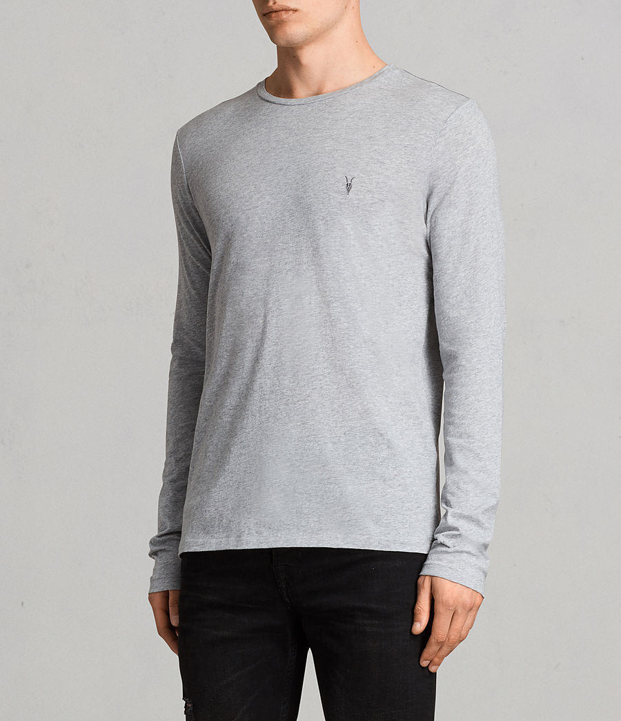 Mens Tonic Long Sleeve Crew T-shirt (grey_marl) - Image 3