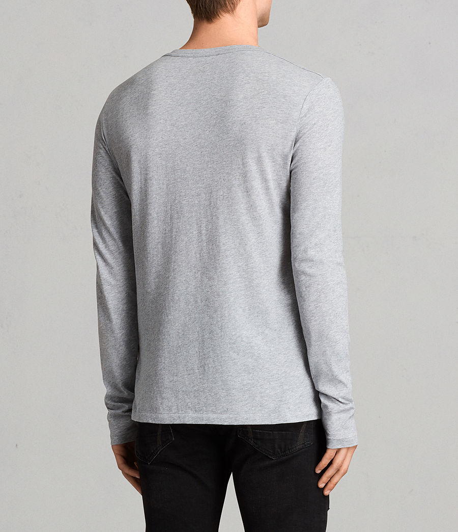 Mens Tonic Long Sleeve Crew T-shirt (grey_marl) - Image 4