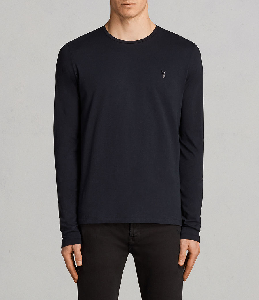 Mens Tonic Long Sleeve Crew T-shirt (ink_navy) - Image 1