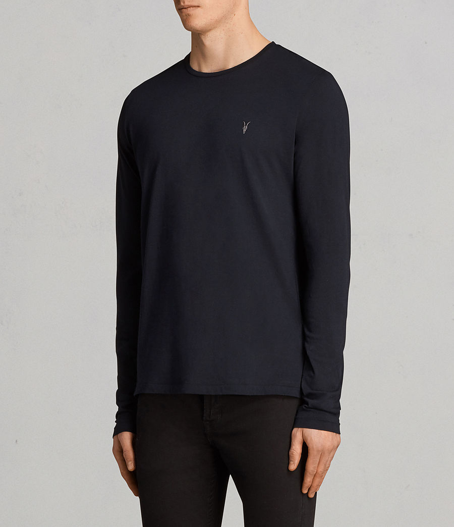 Mens Tonic Long Sleeve Crew T-shirt (ink_navy) - Image 3