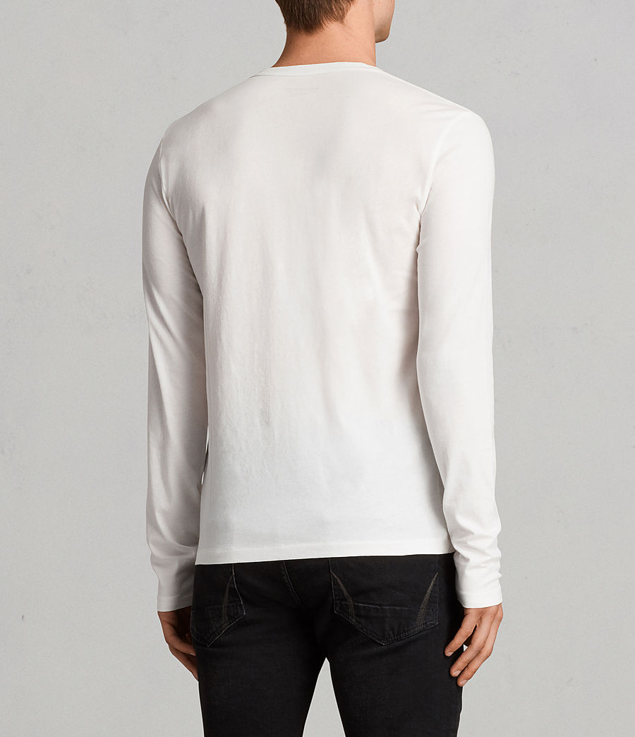 Mens Tonic Long Sleeve Crew T-Shirt (Chalk White) - Image 4