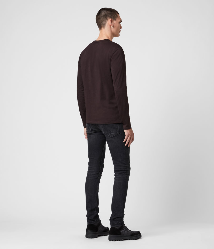 Men's Tonic Long Sleeve Crew T-Shirt (mahogany_red) - Image 5