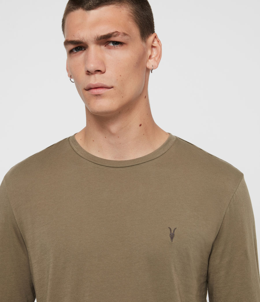 Hombres Tonic Long Sleeve Crew T-Shirt (beech_green) - Image 2