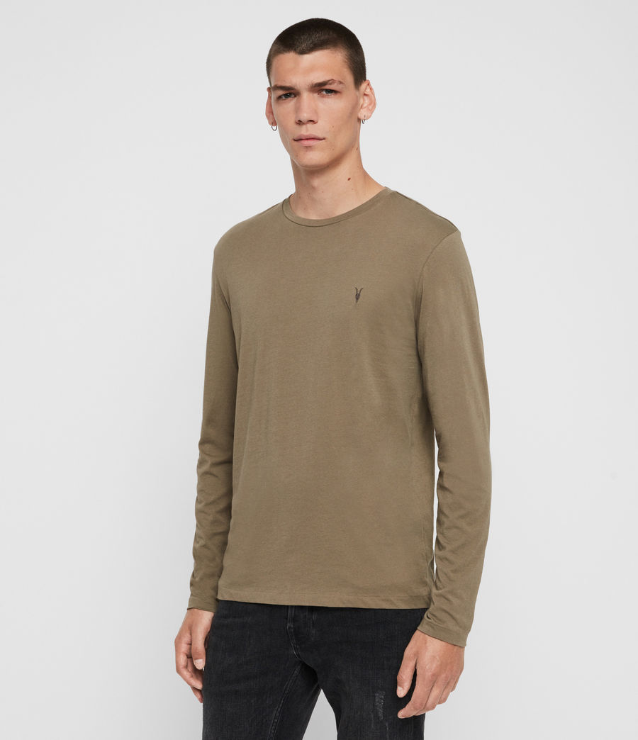 Hombres Tonic Long Sleeve Crew T-Shirt (beech_green) - Image 3