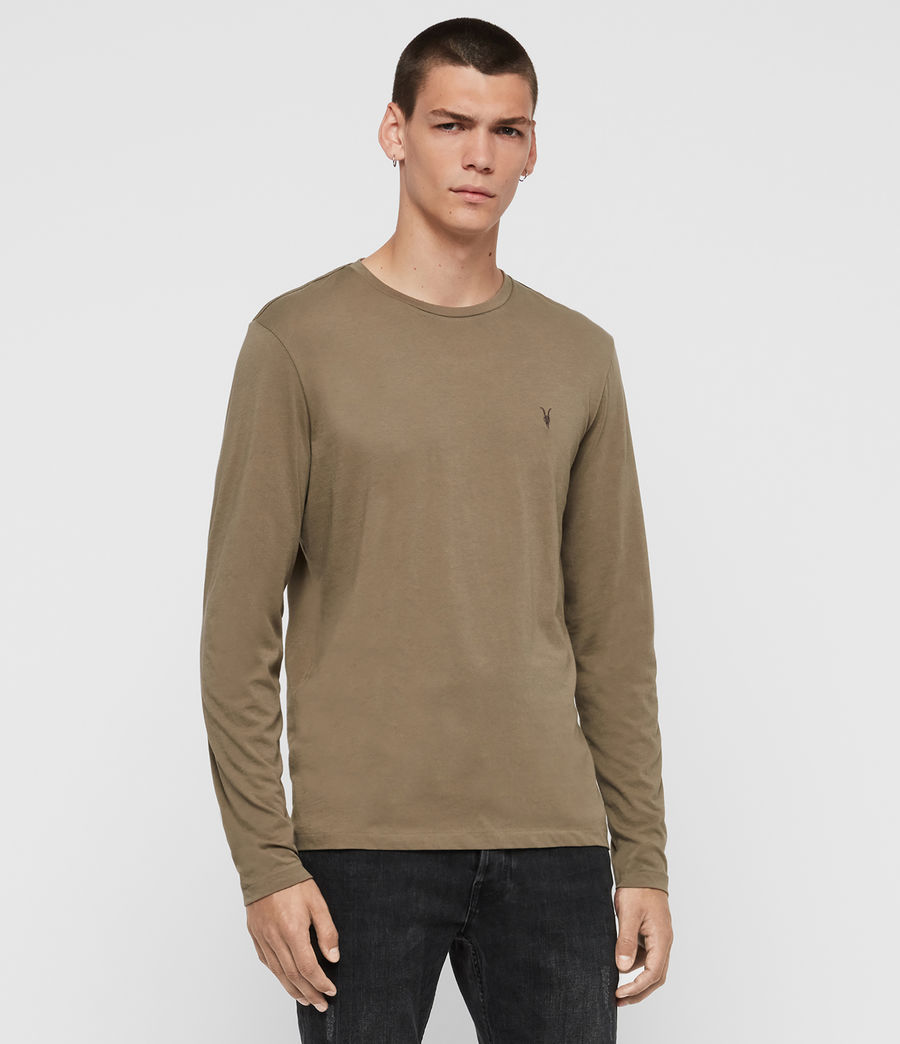 Hombres Tonic Long Sleeve Crew T-Shirt (beech_green) - Image 4