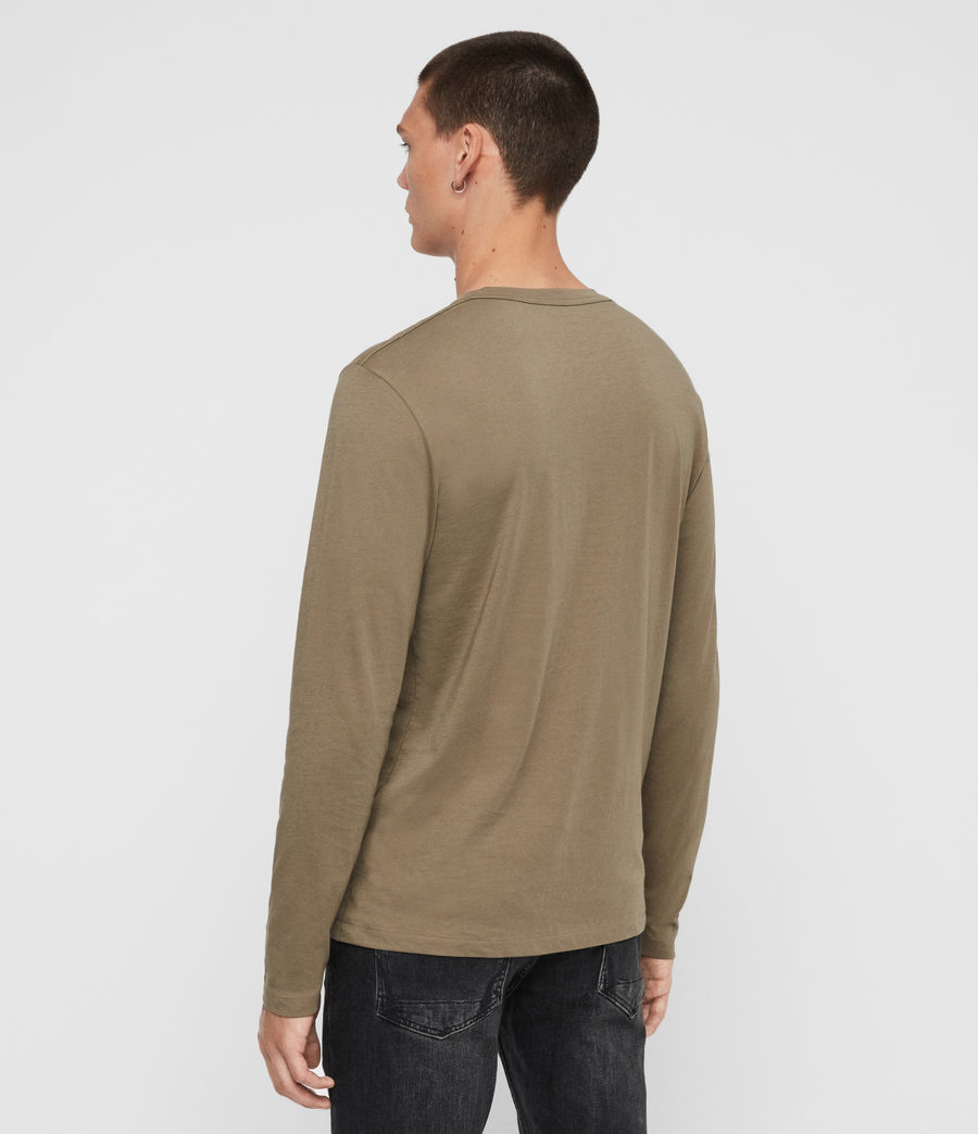Hombres Tonic Long Sleeve Crew T-Shirt (beech_green) - Image 5