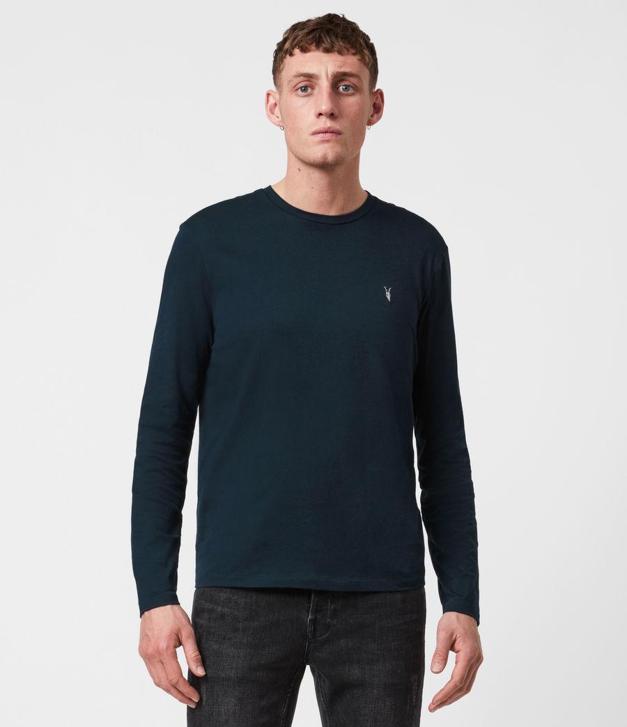 Mens Tonic Long Sleeve Crew T-Shirt (sapphire_blue) - Image 1