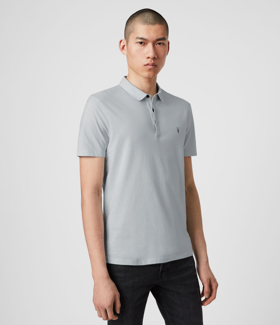 Men's Brace Polo Shirt (salt_blue) - Image 4