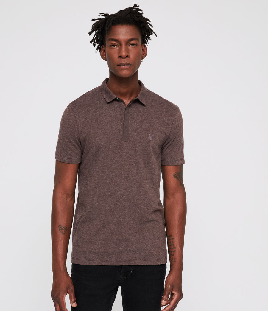Mens Brace Polo Shirt (oxblood_marl) - Image 1