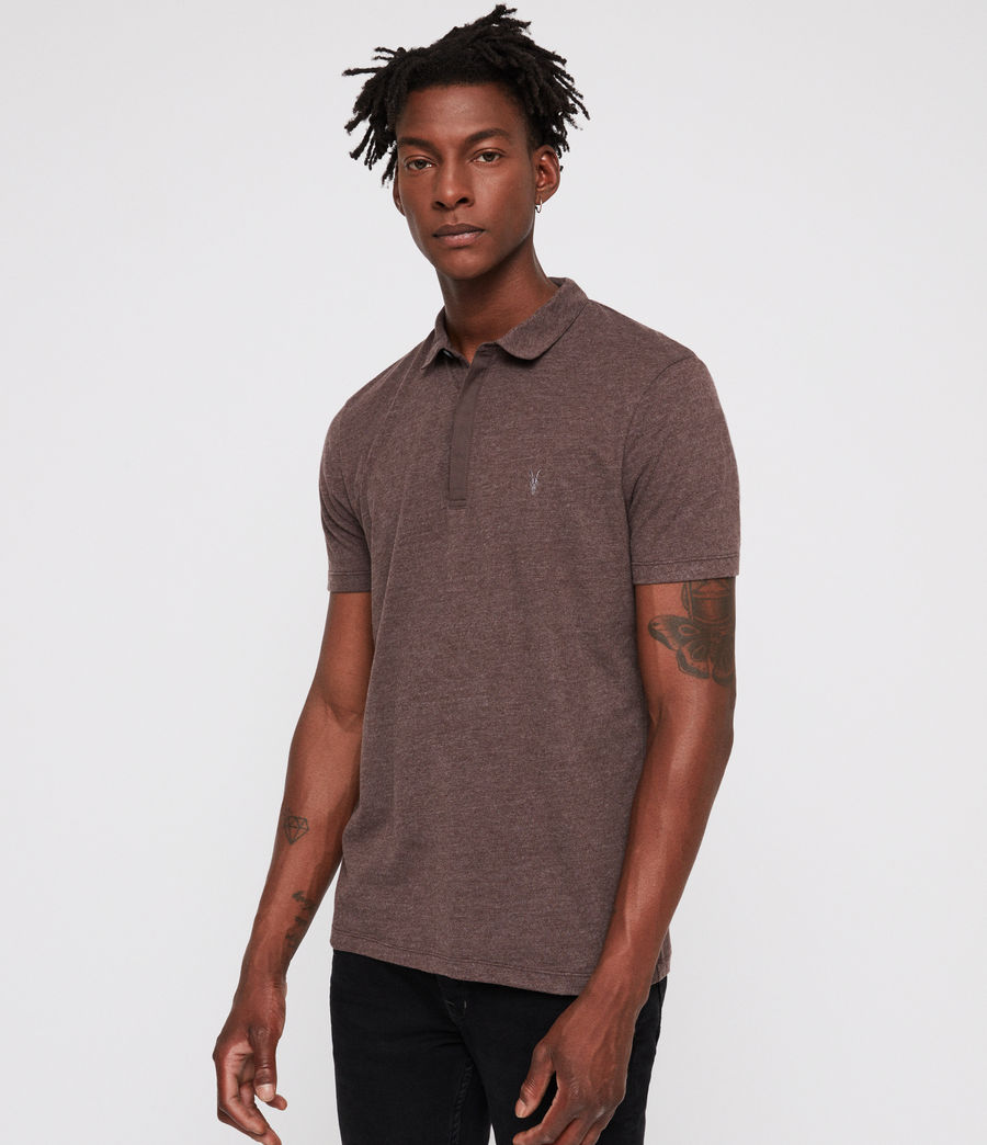 Hommes Polo Brace (oxblood_marl) - Image 3