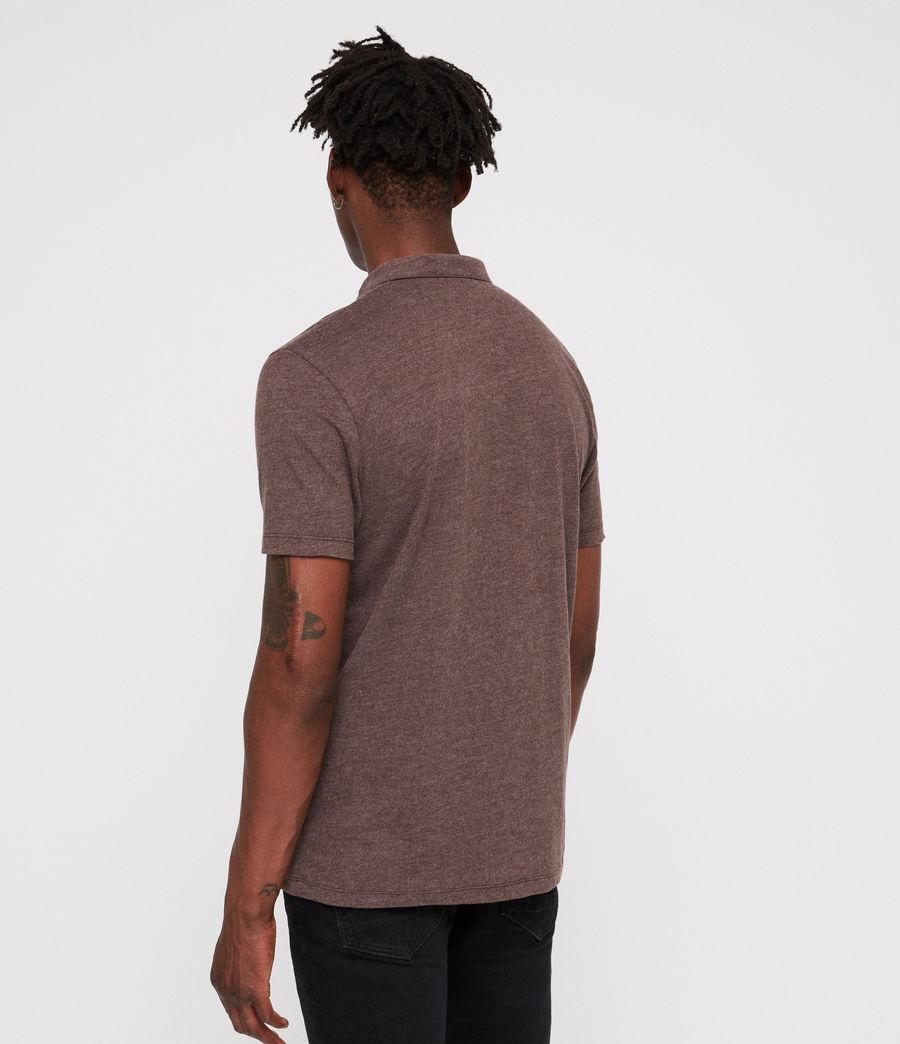Mens Brace Polo Shirt (oxblood_marl) - Image 4