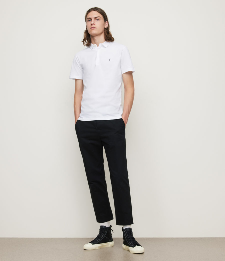 Mens Brace Polo Shirt (optic_white) - Image 3