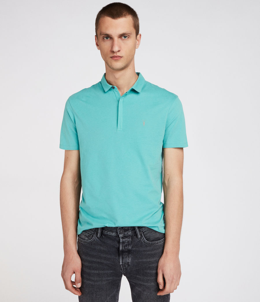 Mens Brace Polo Shirt (miami_green) - Image 1