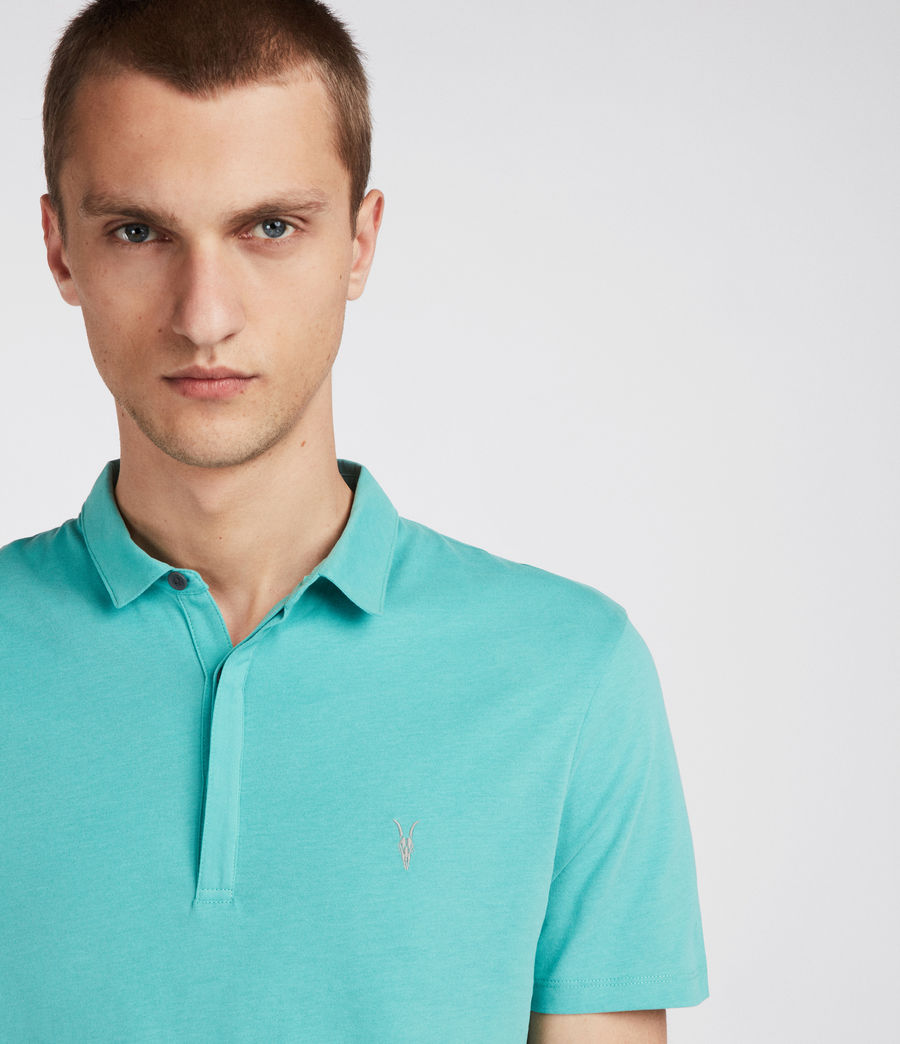 Mens Brace Polo Shirt (miami_green) - Image 2