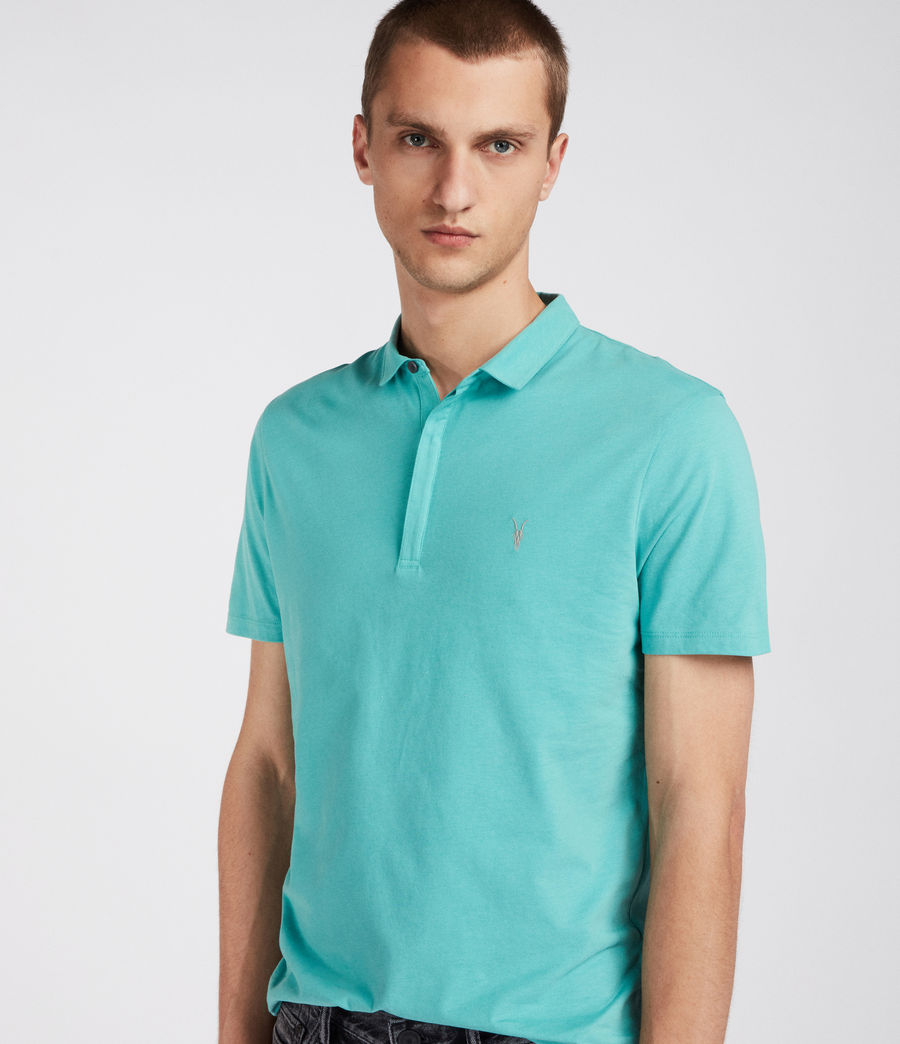 Mens Brace Polo Shirt (miami_green) - Image 3