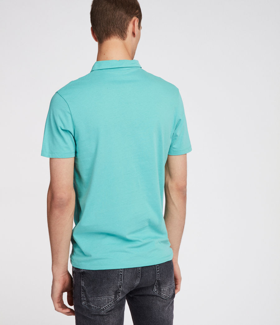 Mens Brace Polo Shirt (miami_green) - Image 4