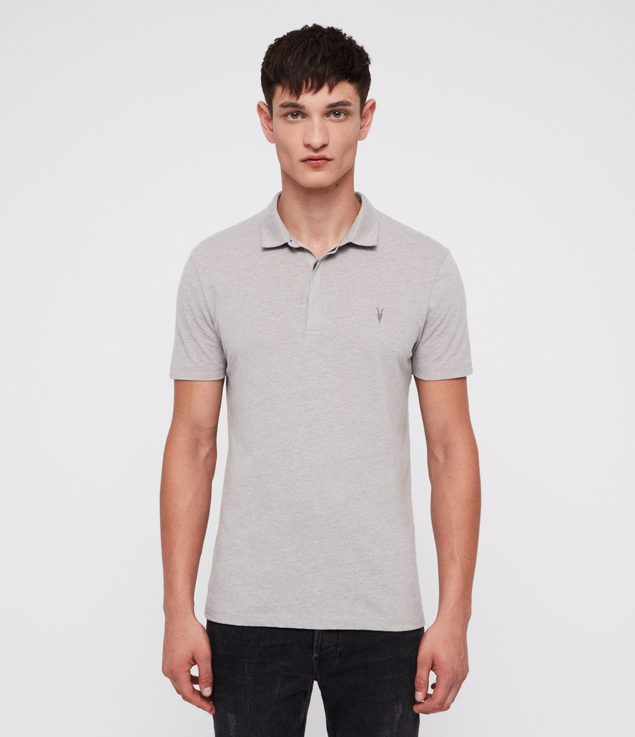 Mens Brace Polo Shirt (mine_grey_marl) - Image 1