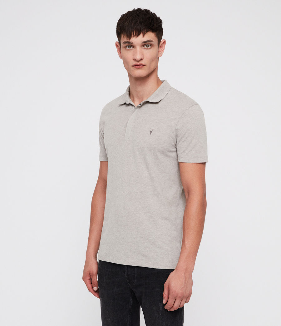 Mens Brace Polo Shirt (mine_grey_marl) - Image 3