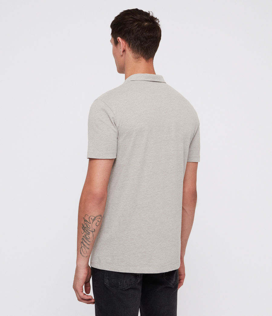 Mens Brace Polo Shirt (mine_grey_marl) - Image 4