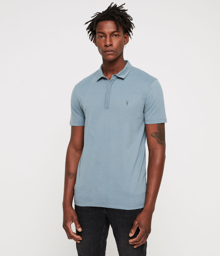 Men's Brace Polo Shirt (salt_blue) - Image 1