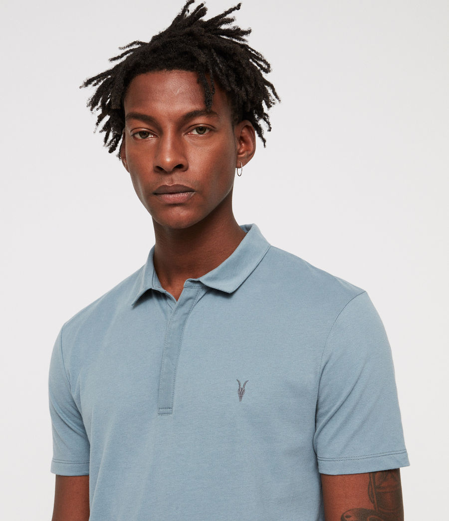 Men's Brace Polo Shirt (salt_blue) - Image 2