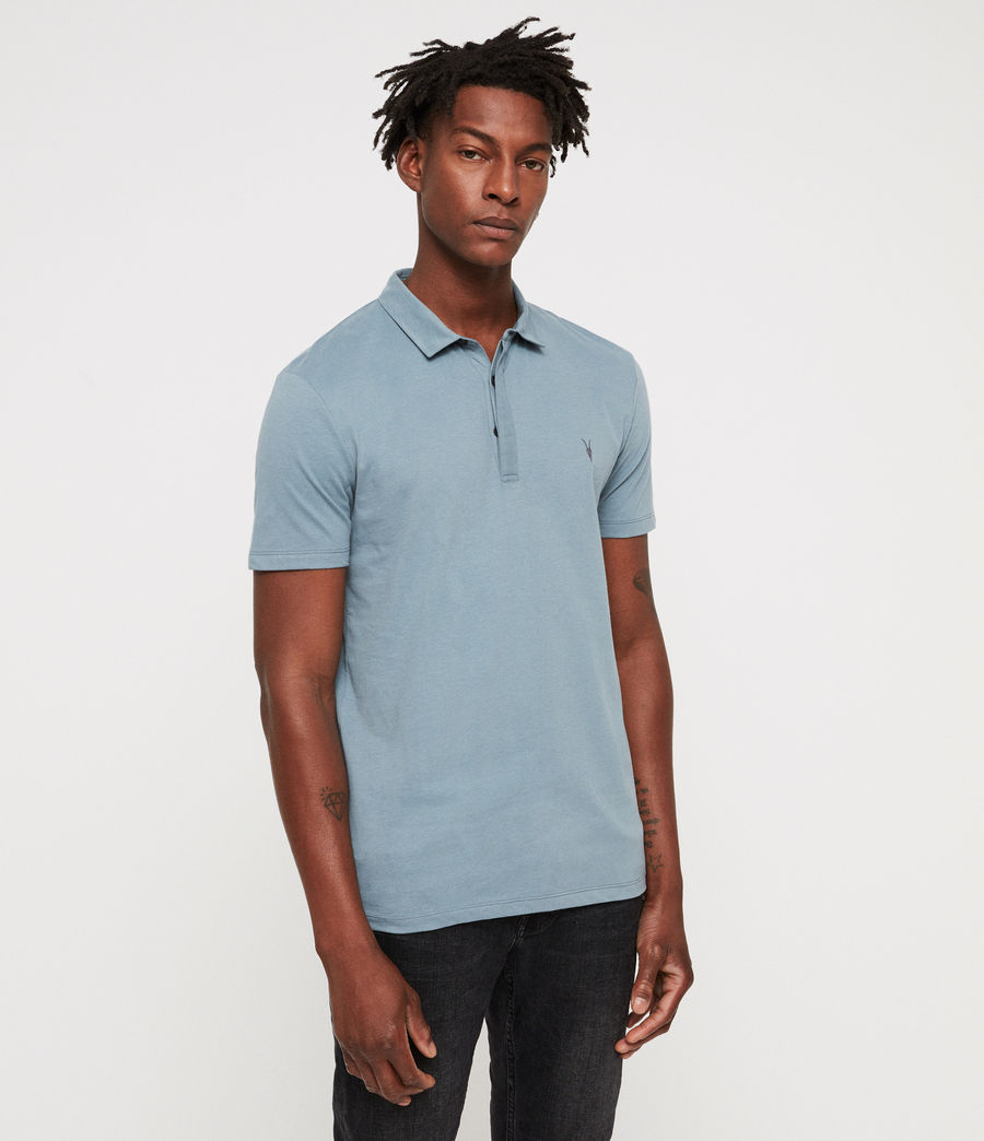Men's Brace Polo Shirt (salt_blue) - Image 3
