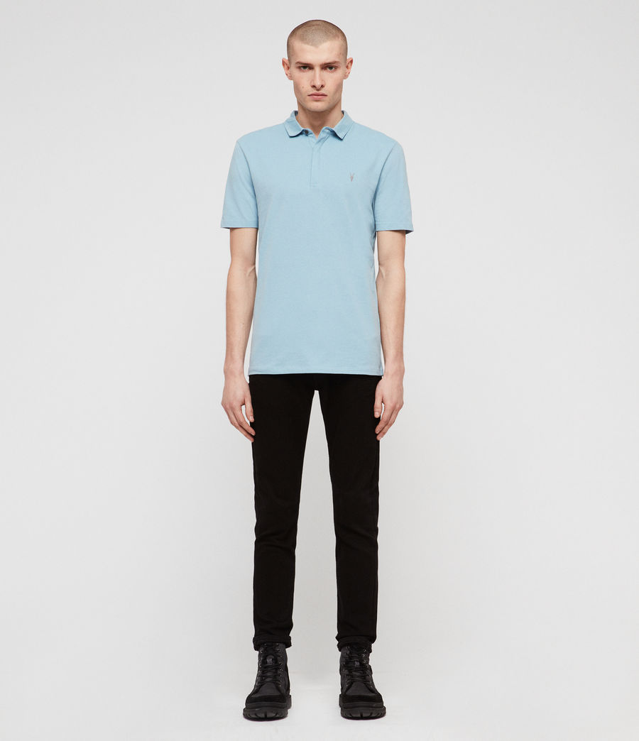 Mens Brace Short Sleeve Polo Shirt (arbour_blue) - Image 3
