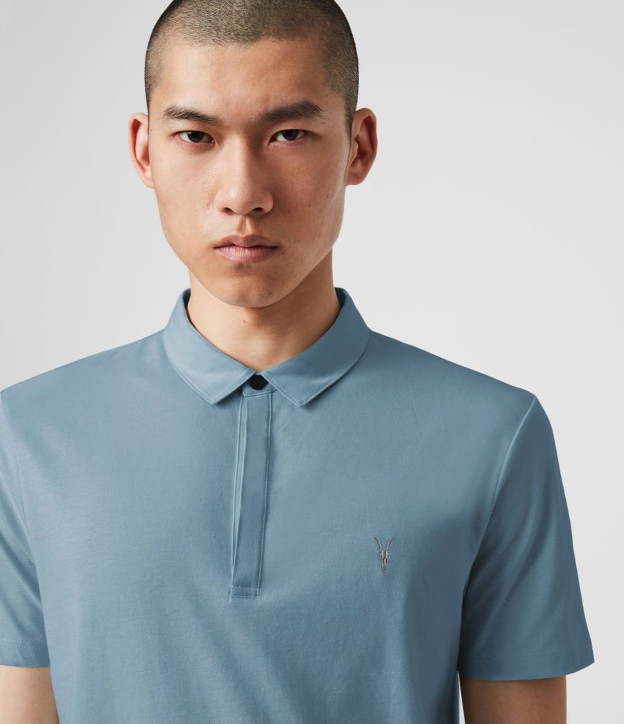 Mens Brace Short Sleeve Polo Shirt (haze_blue) - Image 1