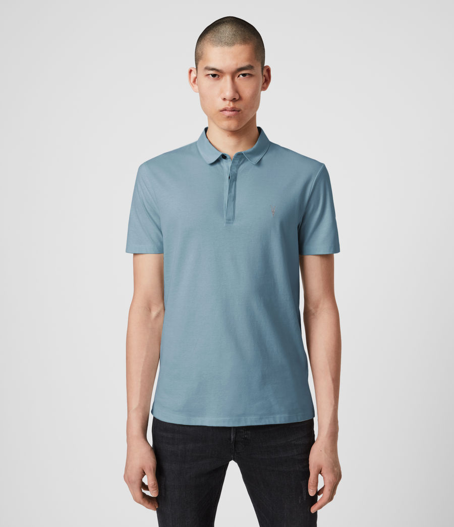 Mens Brace Short Sleeve Polo Shirt (haze_blue) - Image 2