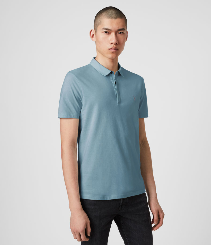 Mens Brace Short Sleeve Polo Shirt (haze_blue) - Image 3