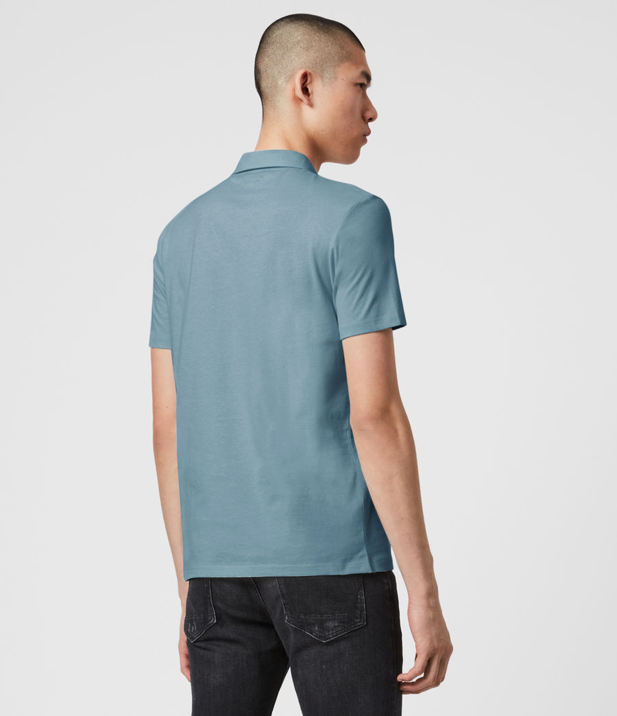 Mens Brace Short Sleeve Polo Shirt (haze_blue) - Image 4