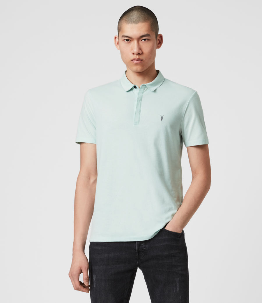Mens Brace Short Sleeve Polo Shirt (menthe_green) - Image 3