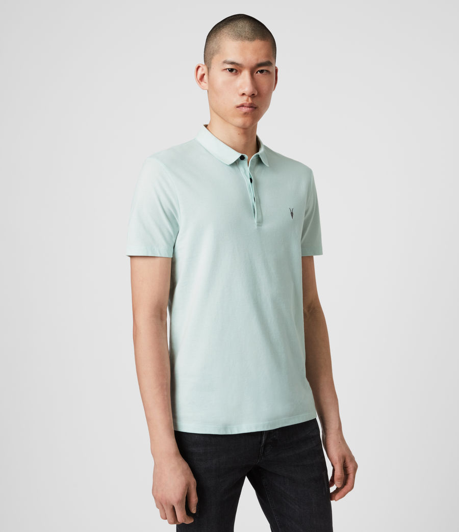 Mens Brace Short Sleeve Polo Shirt (menthe_green) - Image 4