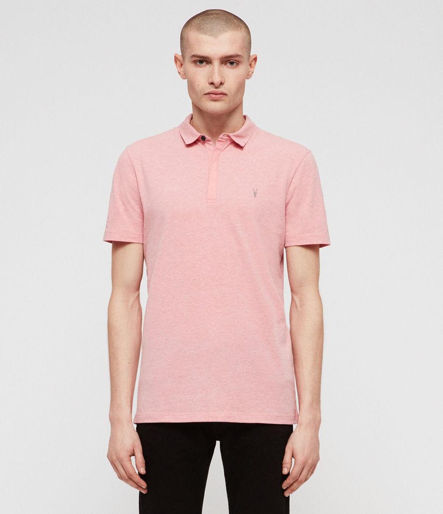 Mens Brace Short Sleeve Polo Shirt (lt_havana_pink_mrl) - Image 1