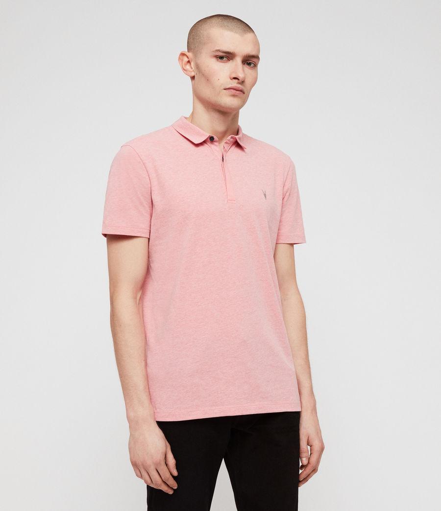 Mens Brace Short Sleeve Polo Shirt (lt_havana_pink_mrl) - Image 3