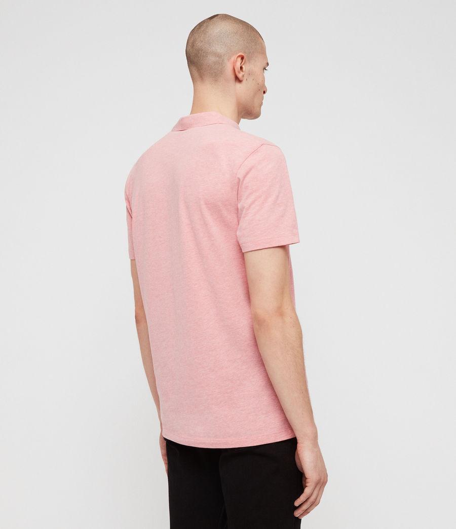 Mens Brace Short Sleeve Polo Shirt (lt_havana_pink_mrl) - Image 4