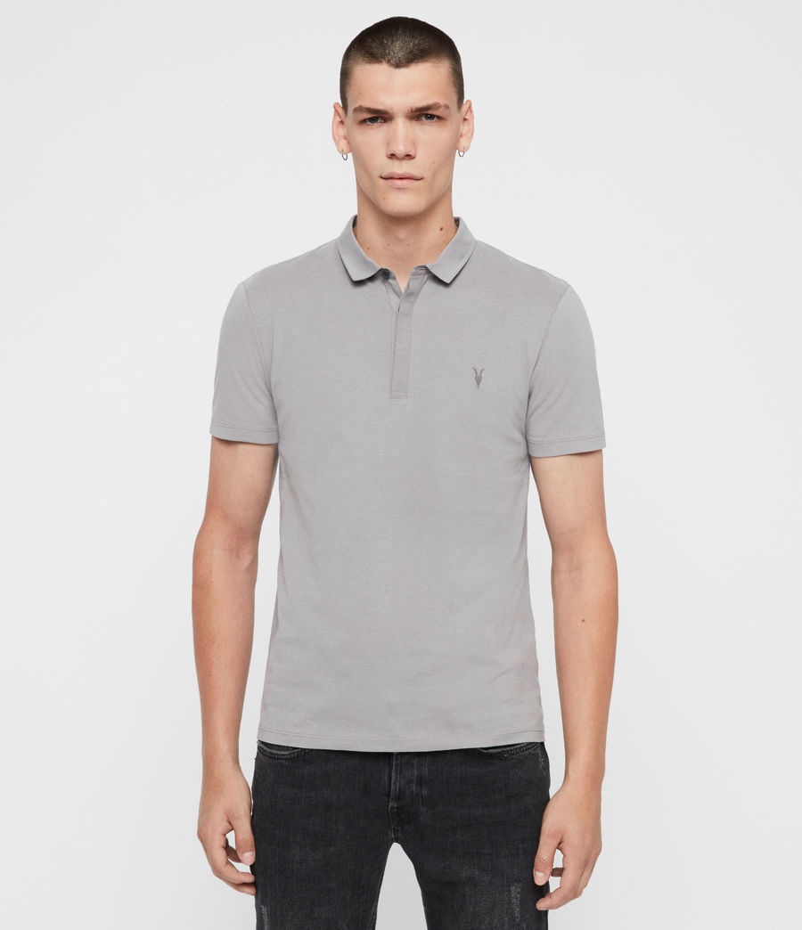 Mens Brace Short Sleeve Polo Shirt (optic_white) - Image 1
