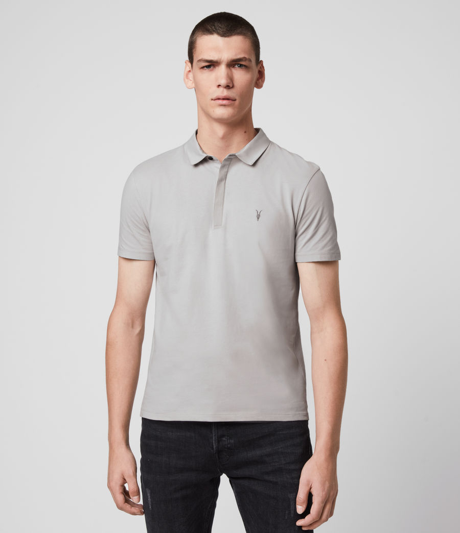 Mens Brace Short Sleeve Polo Shirt (ash_taupe) - Image 1
