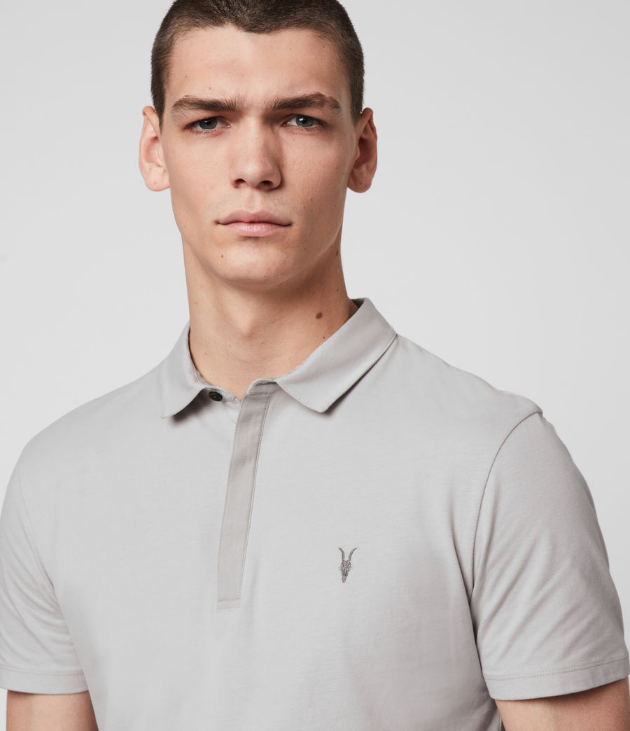 Mens Brace Short Sleeve Polo Shirt (ash_taupe) - Image 2