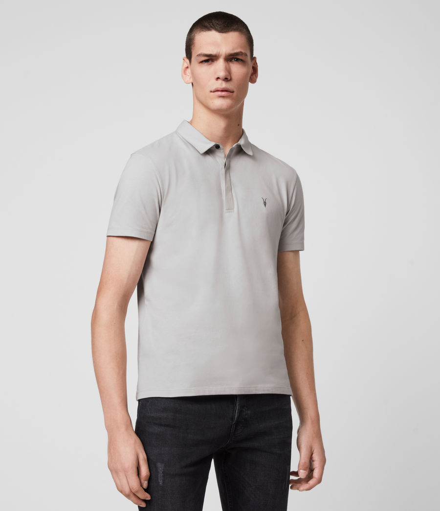Mens Brace Short Sleeve Polo Shirt (ash_taupe) - Image 3
