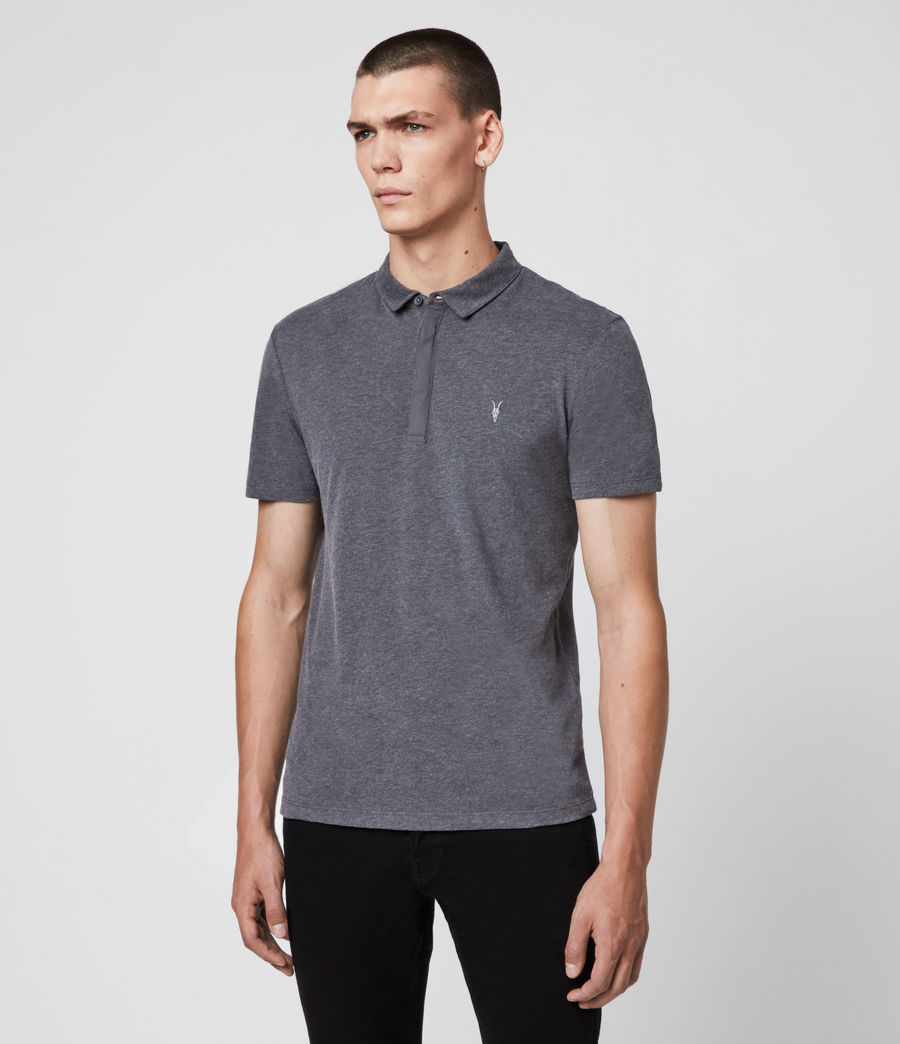 Men's Brace Polo Shirt (charcoal_marl) - Image 4