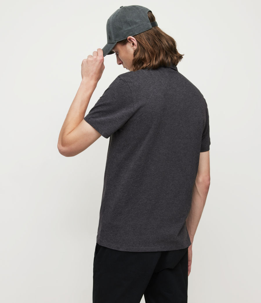 Mens Brace Short Sleeve Polo Shirt (charcoal_marl) - Image 4
