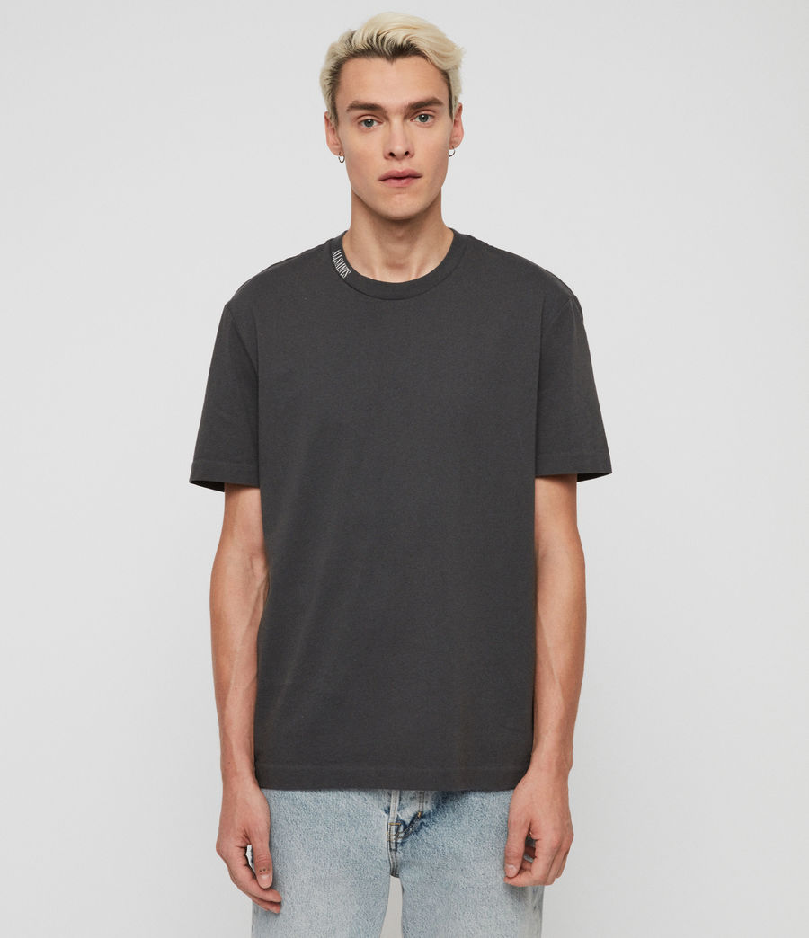 Men's Vival Crew T-shirt (washed_black) - Image 3