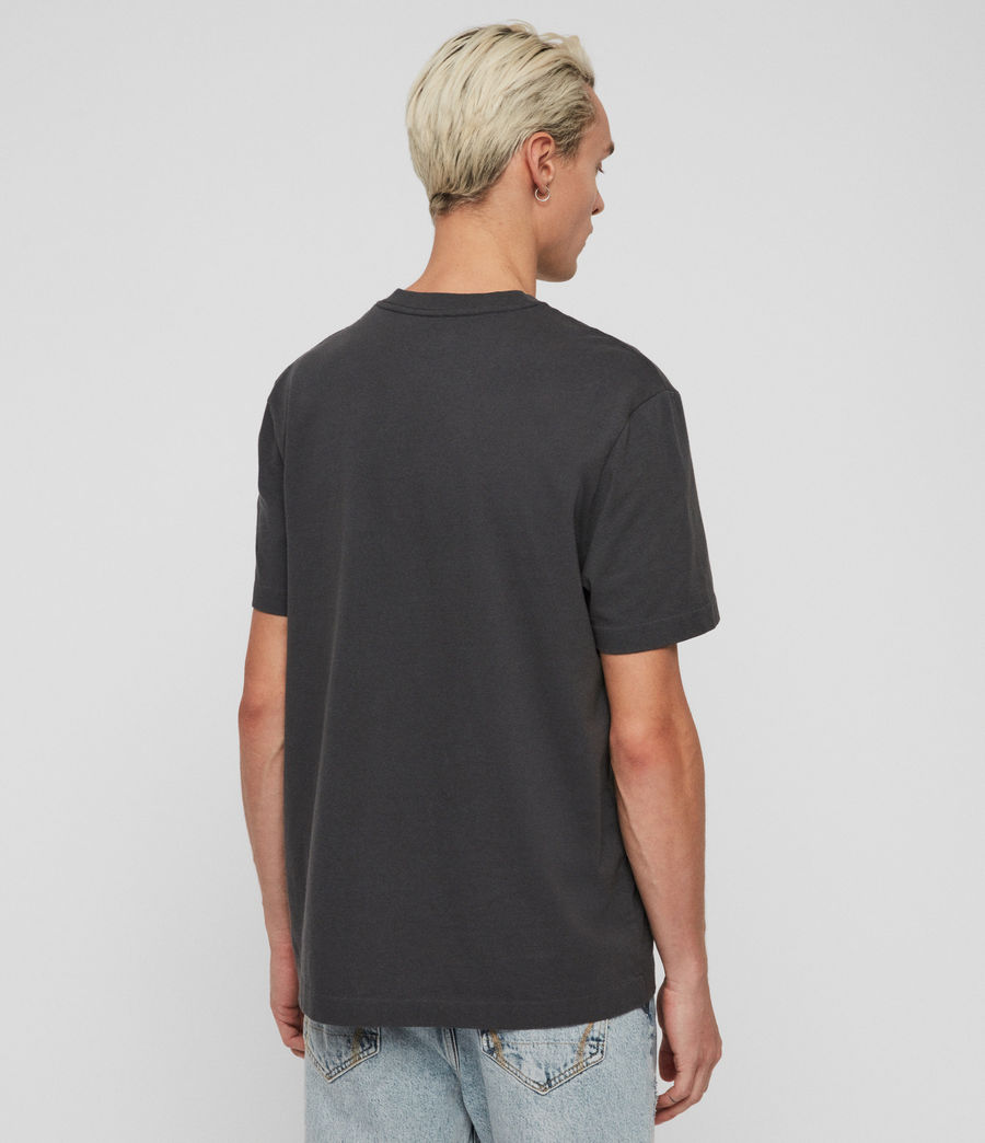 Men's Vival Crew T-shirt (washed_black) - Image 4