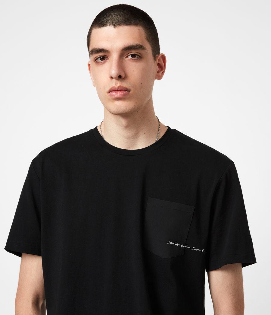 Mens Scripture Crew T-Shirt (jet_black) - Image 4